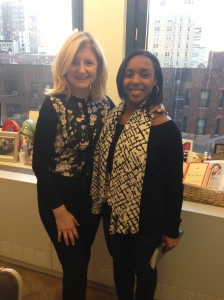 Arianna Huffington and Taylor Griffith