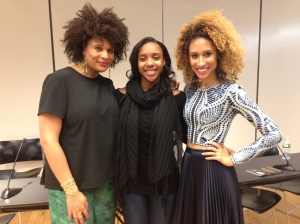 (From Left to Right) Julee Wilson, Taylor Griffith, Elaine Welteroth