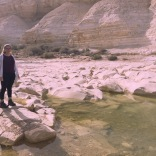 There was water in the Negev Desert. The water is slightly salty.