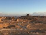 Top of Masada at sunrise