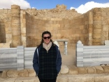 Standing in the ruins of a church in the ancient city of Avdat