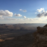 Mitzpe Ramon: the largest erosion crater in the world.